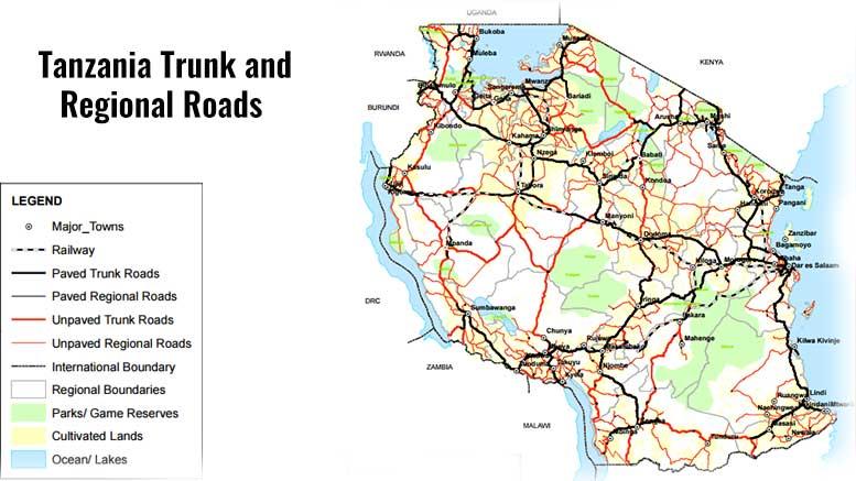 Tanzania roads network